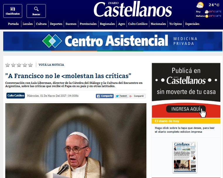 """""""A Francisco no le molestan las críticas"""""""